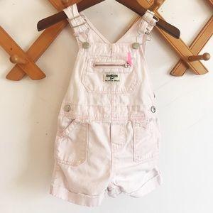 Osh Kosh light pink overall shorts 12-18 months